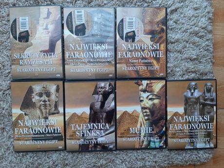 Starożytny Egipt-Najwięksi faraonowie,Mumie, Tajemnica Sfinksa Dvd+ ks
