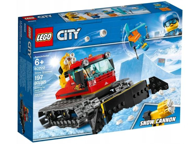 LEGO CITY 60222 RATRAK Pług Gąsienice ARMATKA Zima