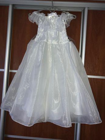 Бальна білосніжна сукня плаття на 5-6 років