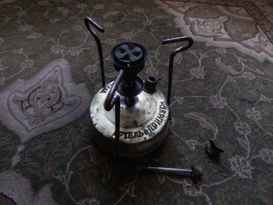Примус советский керосиновый латунный, туристическая горелка, кемпинг Одесса - изображение 1