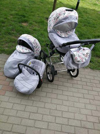 Wózek dla dziewczynki 3w1