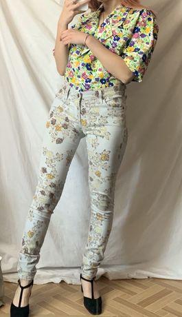Oryginalne jeansy citizens of humanity xs kwiaty jak Levis premium