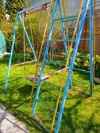 Huśtawka ogrodowa dziecięca metalowa