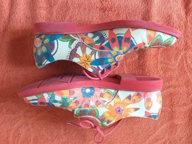 Бомбезные кожаные туфли braska