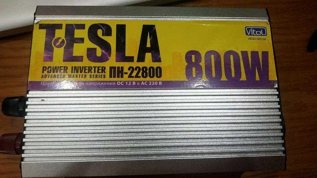 Автомобильный преобразователь напряжения (инвертор) Tesla ПН-22800 12