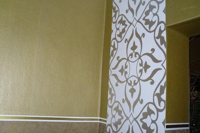 Piękna złota tapeta fizelinowa, mocna OKAZJA