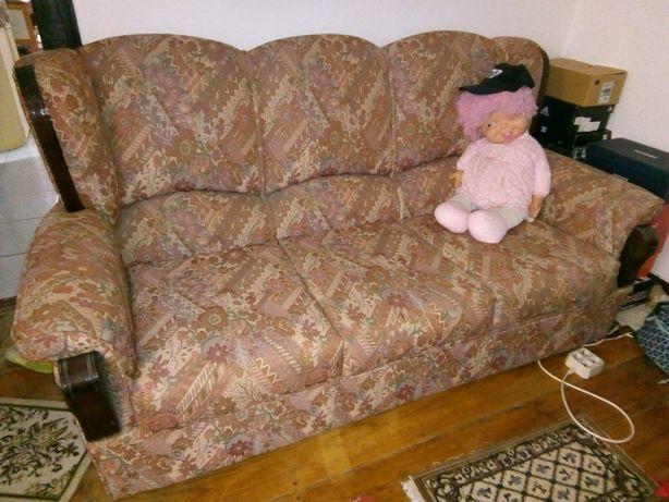 Sofá-cama com 3 lugares e 2 sofás individuais