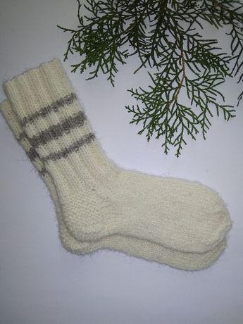Носки детские вязаные, шерстяные. Р-р 23-25. Длина стопы 16 см.