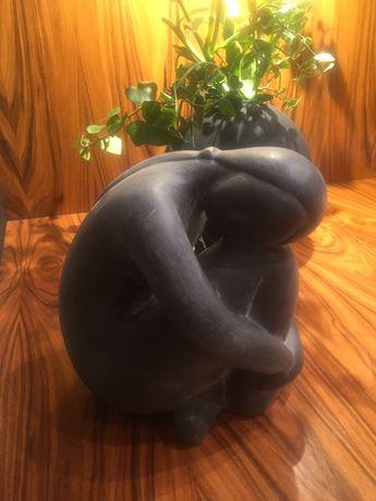 Rzeźba, figurka ceramiczna, postać kobieca