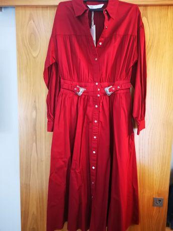 Vestido vermelho Zara - Ainda com etiqueta