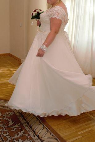 Продам шикарное свадебное платье (батал) р.58-60