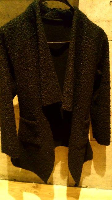 Płaszcz sweter czarny zara uniwersalny