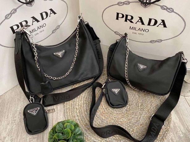 Женская сумка Prada Nylon shoulder bag