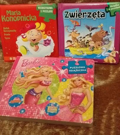 Zestaw - 3 Książeczki z puzzlami