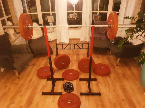 Home Gym Set (Gryf olympijski+stojak+105kg+Drazek podciagania+zaciski)