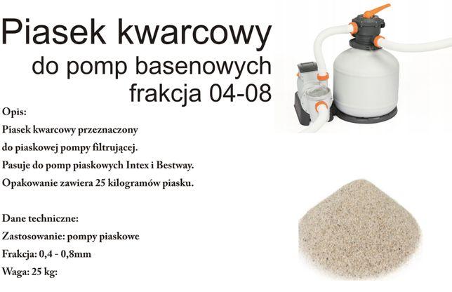 Piasek Kwarcowy Filtrujący do Pompy Piaskowej 25kg