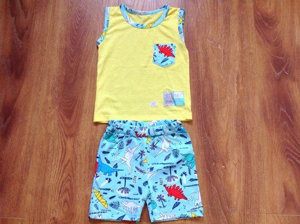 Новый летний костюм, комплект для мальчика, майка, шорты 80 размер