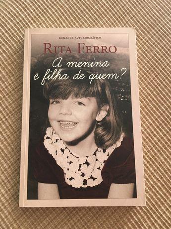 """Livro """"a menina é filha de quem?"""" de Rita Ferro"""