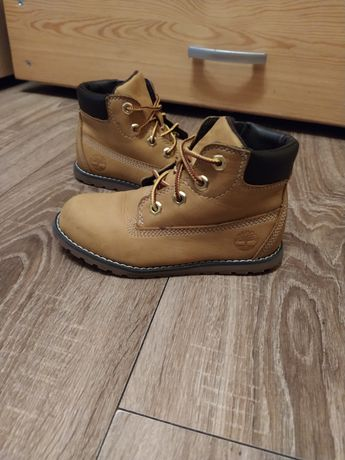 Timberlandy buty zimowe kozaki chłopięce skórzane r.27