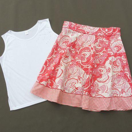 NEW LOOK spódnica bawełna + bluzka na lato 44 46