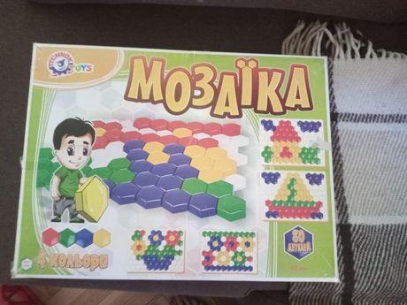 Мозаика на пластине разноцветная яркая