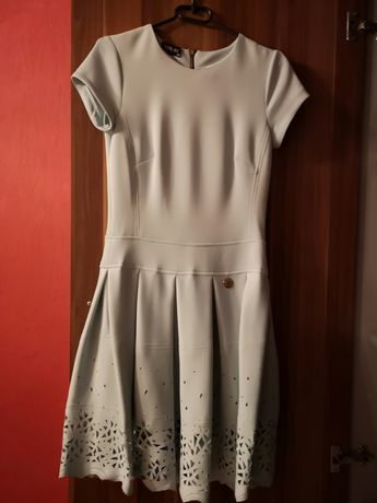 Sukienka ażurowa miętowa