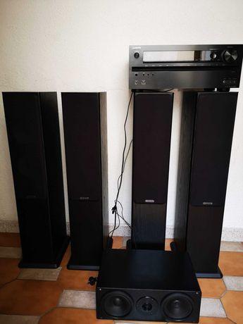 Conjunto Home Cinema (Monitor Audio + Onkyo AV 7.1)