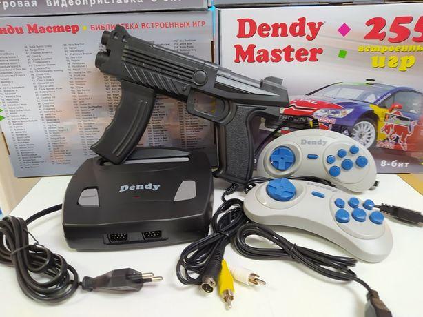 Приставка Dendy Master 255 игр+пистолет Денди 8бит Dendi Супер Марио