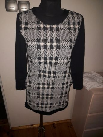 Nowa sukienka czarno biała kratka M /L