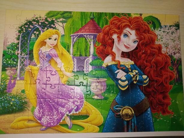 Большой красивый пазл Принцессы и Ханна Монтана фирмы Disney 5-8 л