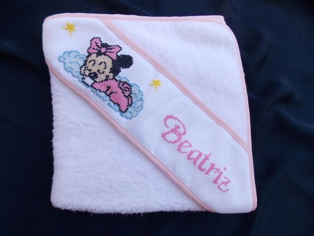 Toalhas de banho bordadas para bebé, 100% algodão