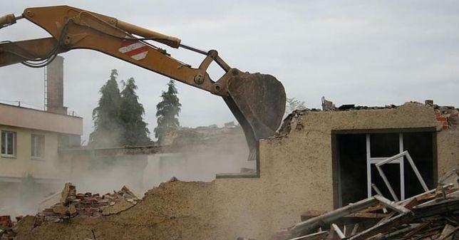 Rozbiórki wyburzenia budynków usługi koparką usługa wywóz gruzu ziemi