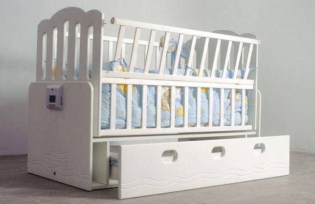 Детская автоматическая кроватка Кораблик, эко материалы - Ольха, Мдф