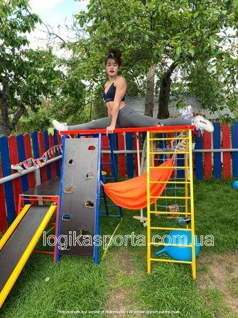 Детский спортивный комплекс, качели, горка, игровая площадка