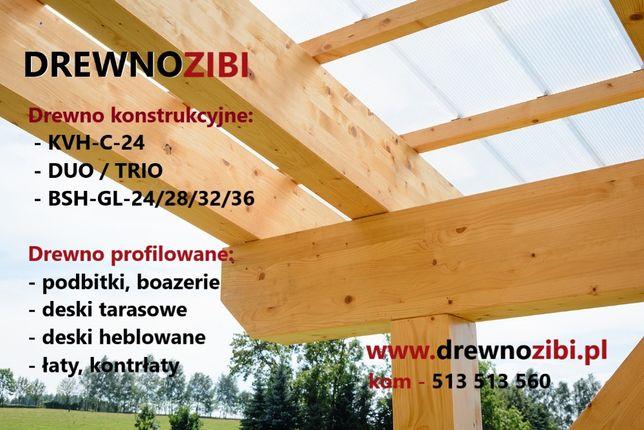 Drewno konstrukcyjne C-24 na dom szkieletowy. Katowice.