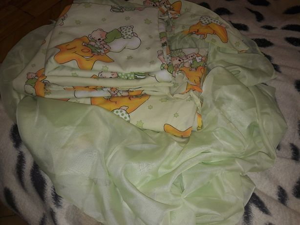 Балдахин, защита на кроватку, бортики на кроватку, детское постельное