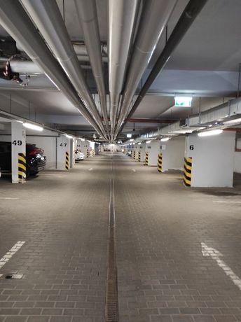 Poznań, Naramowice, ul. Błażeja - miejsce postojowe w hali garażowej