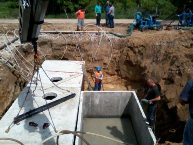 Zbiornik betonowy na szambo, Szamba betonowe,Zbiorniki na deszczówkę