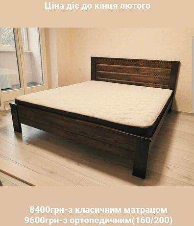Ліжко дерев'яне,ясен(масив),140/160/180-200