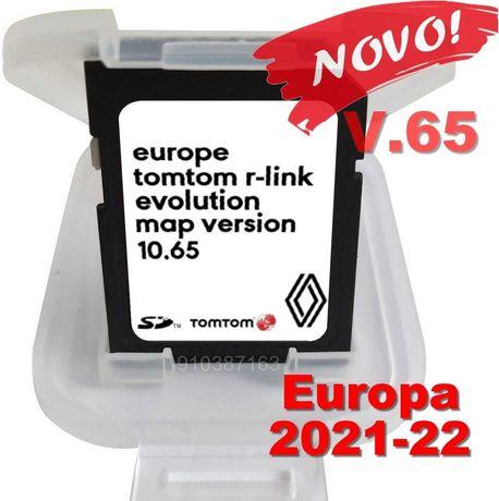 Novo Cartao de GPS Renault R-link de 2021-22 Europa