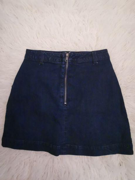 Nowa jeansowa spódnica z zamkniem, new look