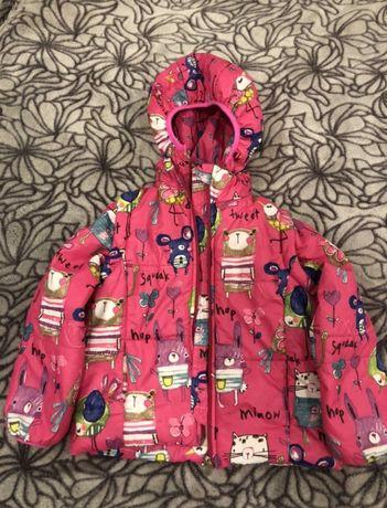 Куртка весенняя для девочки Модный карапуз