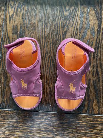 Okazja! Samdałki dla dziewczynki Polo Ralph Lauren roz. 24