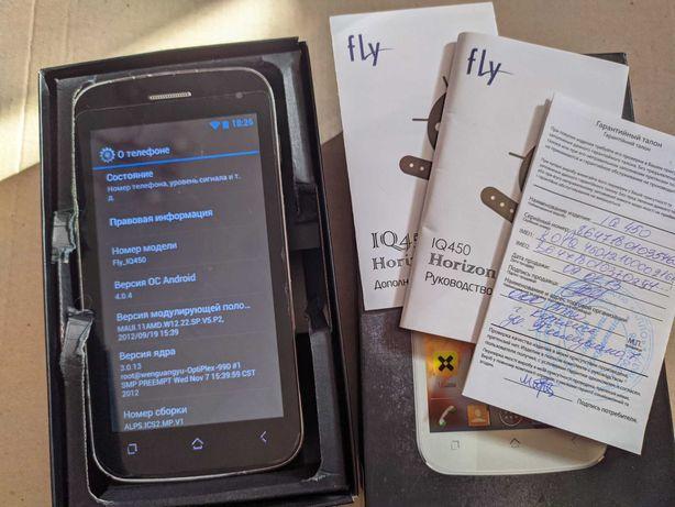 Fly IQ 450 Horizon Black +SD 512 мб.