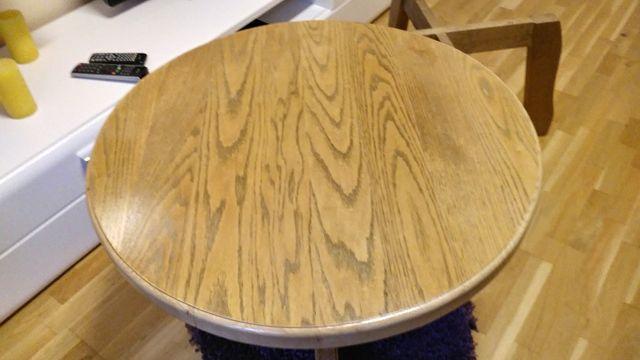 stolik drewniany dab masywny