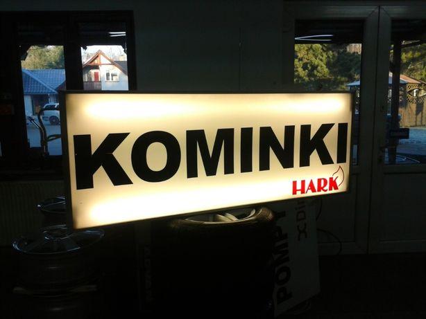 Kaseton baner reklamowy reklama. Świecący KOMINKI 1,60/60 aluminium