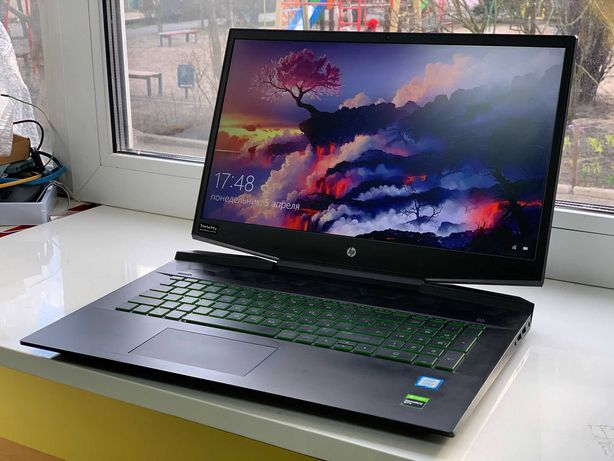 Ноутбук игровой HP 17.3 IPS 144Hz Core i7 Geforce 1660 Ti 16Gb 256+1Tb