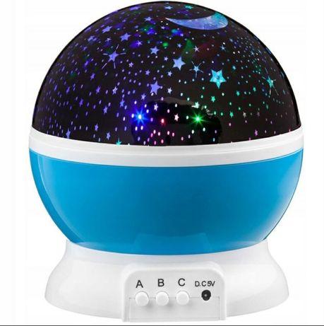Lampka nocna projektor obrotowy, niebo gwiazd Promocja świąteczna