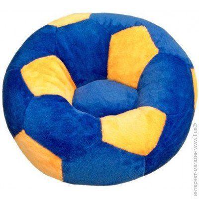Дитяче Крісло Zolushka м'яч велике 78см синьо-жовте Коломье - изображение 1