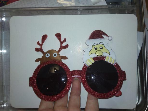 детские игрушка очки новый год дед мороз и олень хорошее состояние
